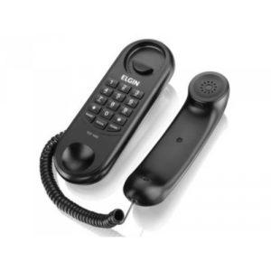 TELEFONE GONDOLA COM FIO PRETO TCF 1000 ELGIN-0